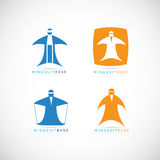 Logo de base de Wingsuit illustration de vecteur