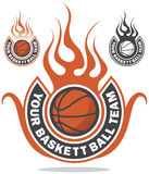 Logo de basket-ball Photographie stock libre de droits