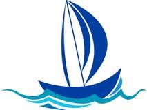 Logo de bateau Photos stock