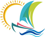 Logo de bateau Photographie stock