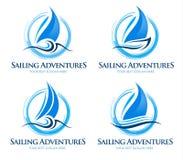 Logo de bateau Images libres de droits