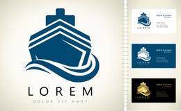 Logo de bateau Image stock