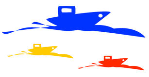 Logo de bateau Images stock