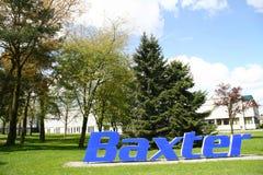 Logo de Baxter, Halle, Allemagne, Photographie stock libre de droits