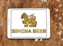 Logo de bière de Singha photo stock