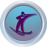 Logo de Biathlon illustration de vecteur