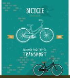 Logo de bicyclette de vecteur Ligne mince icône pour le logo, Web Image stock