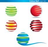 Logo de bille de globe de couleur illustration de vecteur