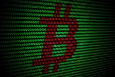 Logo de Bitcoin sur un fond vert-foncé Image libre de droits