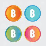 Logo de Bitcoin Symbole d'icône de symbole monétaire de cryptographie illustration libre de droits