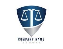 Logo de bouclier d'avocat Photos stock