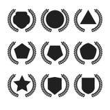 Logo de bouclier et de feuilles Photos libres de droits