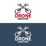 Logo de bourdon Conception plate Magasin de Quadrocopter Illustration de vecteur Image stock