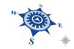 Logo de boussole d'isolement sur le fond blanc Image libre de droits