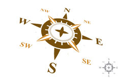 Logo de boussole d'isolement sur le fond blanc Photographie stock libre de droits