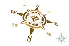 Logo de boussole d'isolement sur le fond blanc Photo stock