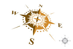 Logo de boussole d'isolement sur le fond blanc Images stock