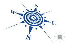 Logo de boussole d'isolement sur le fond blanc Photo libre de droits