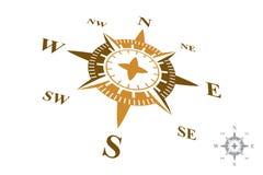 Logo de boussole d'isolement sur le fond blanc Photos stock