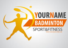 logo de boutique de badminton Photo stock