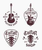 Logo de boutique de guitare de vecteur illustration libre de droits