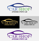 Logo de boutique de voitures Photos libres de droits