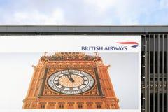 Logo de British Airways sur un mur Photos libres de droits