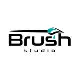 Logo de brosse de peinture Photos libres de droits