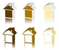 Logo de Brown de maison Images stock