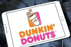 Logo de butées toriques de Dunkin Photos stock