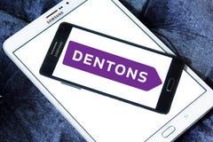 Logo de cabinet d'avocats de Dentons Photos stock