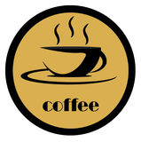 Logo de café Images stock