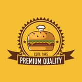 Logo de café, logo de restaurant Photographie stock libre de droits