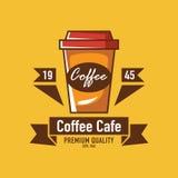 Logo de café, logo de restaurant Photos stock