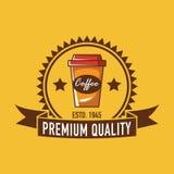 Logo de café, logo de restaurant Image stock