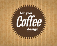 Logo de café sur le fond de carton dans le style de vintage Photographie stock