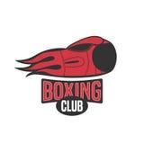 Logo de calibre de vecteur de boxe, emblème, label, conception Illustration Stock