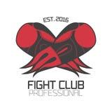 Logo de calibre de vecteur de boxe, emblème, label, conception Illustration Libre de Droits