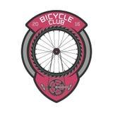 Logo de calibre de vecteur de club de bicyclette Illustration de Vecteur