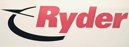 Logo de camion de Ryder Photos stock
