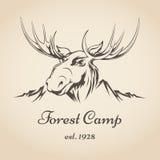 Logo de camp de forêt Images libres de droits