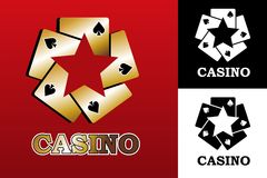 Logo de casino Photos stock