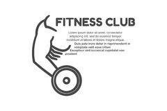 Logo de centre de fitness Photographie stock