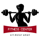Logo de centre de fitness ou de gymnase Photo stock