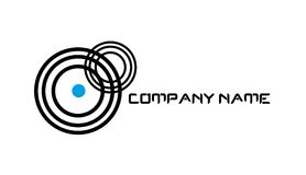 Logo de cercle de signal Image stock