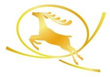 Logo de cerfs communs Photo libre de droits
