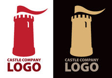 Logo de château illustration stock