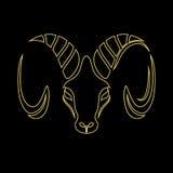 Logo de chèvre Photo libre de droits