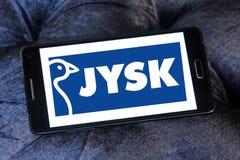 Logo de chaîne de magasins de vente au détail de Jysk Photos libres de droits