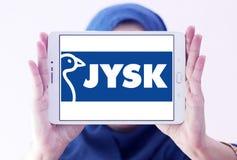 Logo de chaîne de magasins de vente au détail de Jysk Photos stock
